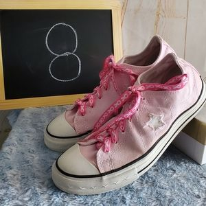 Conserve One Star Pink Shoes Size 8